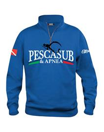 psa_pesca Felpa Mezza Zip Unisex Royal