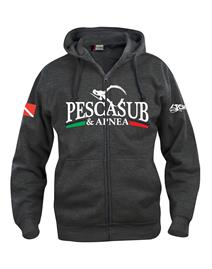psa_pesca Basic Hoody Full Zip Nera