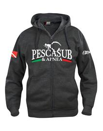 psa_pesca Basic Hoody Full Zip Antracite